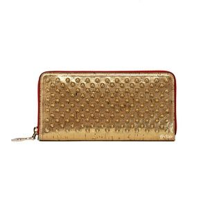 Christian Louboutin Gold Panettone Spiked Wallet